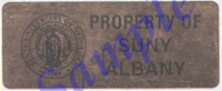 Property of SUNY Albany tag
