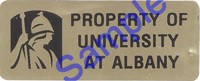 Property of University at Albany tag