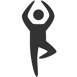 Icon of person doing yoga
