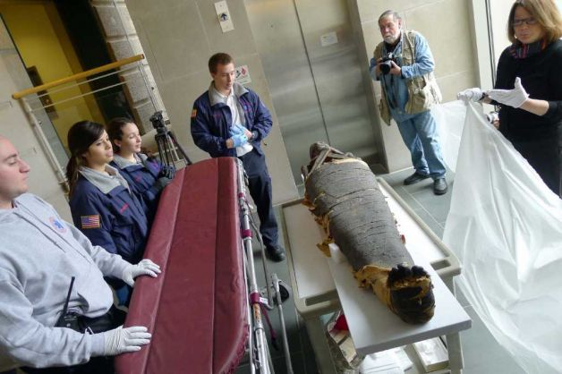 Michael P. Farrell/Times Union Photo of Albany Mummies