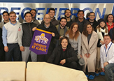 Paul Miesing and Bob's Downey's class of international business students visiting Regeneron over winter break.