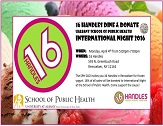 School of Public Health Graduate Student Organization (SPH GSO) 16 Handles Dine and Donate to support International Night 2016