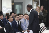 TIAA president and CEO Roger Ferguson Talk to UAlbany School of Business students