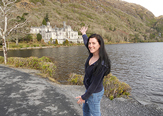 Student in the Galway area. Ireland is one of the many destinations for students who want to study abroad.