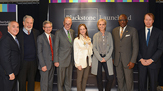 Joan Solotar '86 et al at announcement of Blackstone LaunchPad for UAlbany