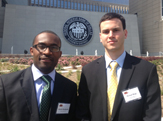 Financial Analyst Honors students Kelechi Nwokocha '13 and Michael Biagi '13