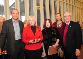 Dean Wulfert and members of the faculty enjoy the 2014 CAS Holiday Social