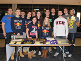 A group of UAlbany students at annual club fair