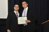 The Denis Lukashkov Memorial Scholarship PRESENTER Etton Soriano '14 AWARDEE Guillermo Dilone'15