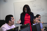 Digital Forensics Prof Victoria Kisekka teaches a class at the UAlbany School of Business