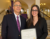 UAlbany Vice President for Research James Dias and student researcher