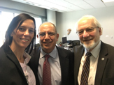 USAL Vice Rectora Luciana Tondello, UAlbany Business Dean Shawky and UAlbany Provost Stellar