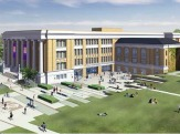 Artist's rendering of the new home of the College of Engineering and Applied Sciences
