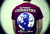 World of Chemistry student wearing a group shirt.