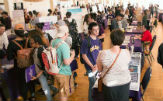 Members of the UAlbany community gather at CURCE's recent event.