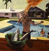 Eric Fischl. Barbeque. 1982. Oil on Canvas. 165 x 254 cm.