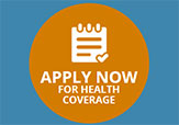 Apply now for health care logo from Healthcare.gov