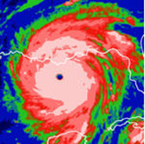 computer image of a hurricane model