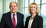 School of Business Interim Dean Hany Shawky and Associate Dean Ingrid Fisher