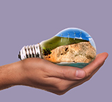 Lightbulb representing various foci in Environmental and Sustainable Engineering