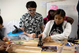 Students engage in creative projects in the new MakerSpace in Draper Hall.
