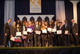 group of UAlbany students at annual leadership award ceremony