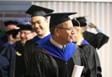 Stephen Toy '94 and Hany Shawky at 2017 commencement
