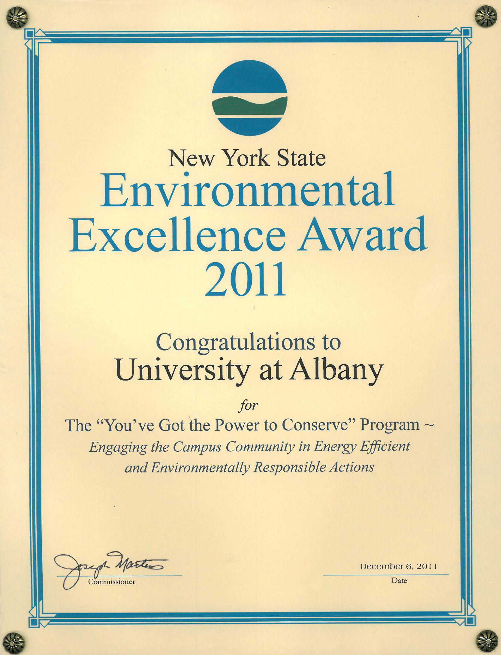 University at albany suny office of facilities management university at albany received the award from nys department of environmental conservation nysdec for its xflitez Gallery
