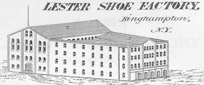 The Lester Shoe factory.