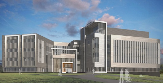 A rendering of the Emerging Technology and Entrepreneurship Complex that UAlbany is building on the Harriman Campus
