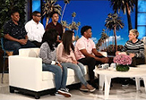 UAlbany students on The Ellen Show.