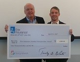 Erie Insurance awards $1,000 at Blackstone LaunchPad's Business Plan competition.