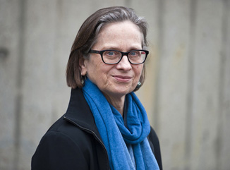 Lydia Davis photographed early May upon learning she was a Booker prize finalist