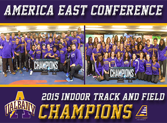 UAlbany 2015 America East Indoor Track Champions