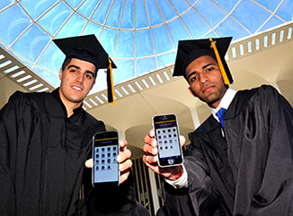 UAlbany recently unveiled its first official mobile application under the leadership of two computer science majors – Shivam Parikh and Matthew Gilliland.
