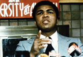 Muhammad Ali speaks at UAlbany