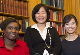 School of Social Welfare Students Tana James Mi Jin Choi and Professor Eunju Lee