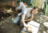 UAlbany students dig for Underground Railroad artifacts.
