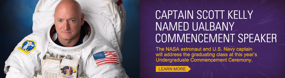 Astronaut Scott Kelly to be commencement speaker at UAlbany