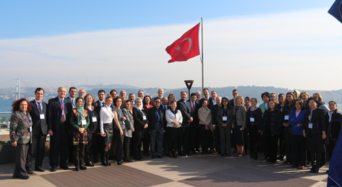 "Participants at the ""Second High Level Consultation Meeting on HIV in Conservative Social Settings"" at Bahcesehir University, Istanbul, Turkey (January 30-31, 2016) included UAlbany's Dr. Arash Alaei, Assoc. V. Provost for International Education and Dr. Kamiar Alaei, Assoc. Dean for Global and Interdisciplinary Research."
