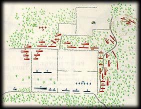 Civil war map of battles