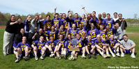 UAlbany's Men's Lacrosse Team.  Photo by Stephen Slade.  Click for larger image.