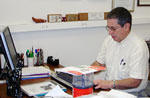 Professor Hirsch in his office
