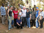 UAlbany students help build a security wall around the cultural and spiritual center in Kigali, Rwanda.