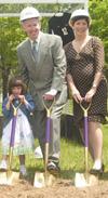 Elizabeth and John Fallon Jr.'85 and daughter.