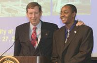 President Kermit L. Hall with Richard Nichols II