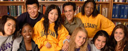 Scholarship recipients, from left, YanArabell Lin, Alice Forestal, Timothy Gao (in back), Yangfei Liu, Erick Rubio, Rebekah Adamoschek, Rose Destin, Maria Carranza and Chandra Cirulnick. Other recipients (not pictured) are Nicole Miklos, Naa Adoley Pappoe, David Richardson, Vimla Singh, Nisha Taneja and Wingate Wellington.