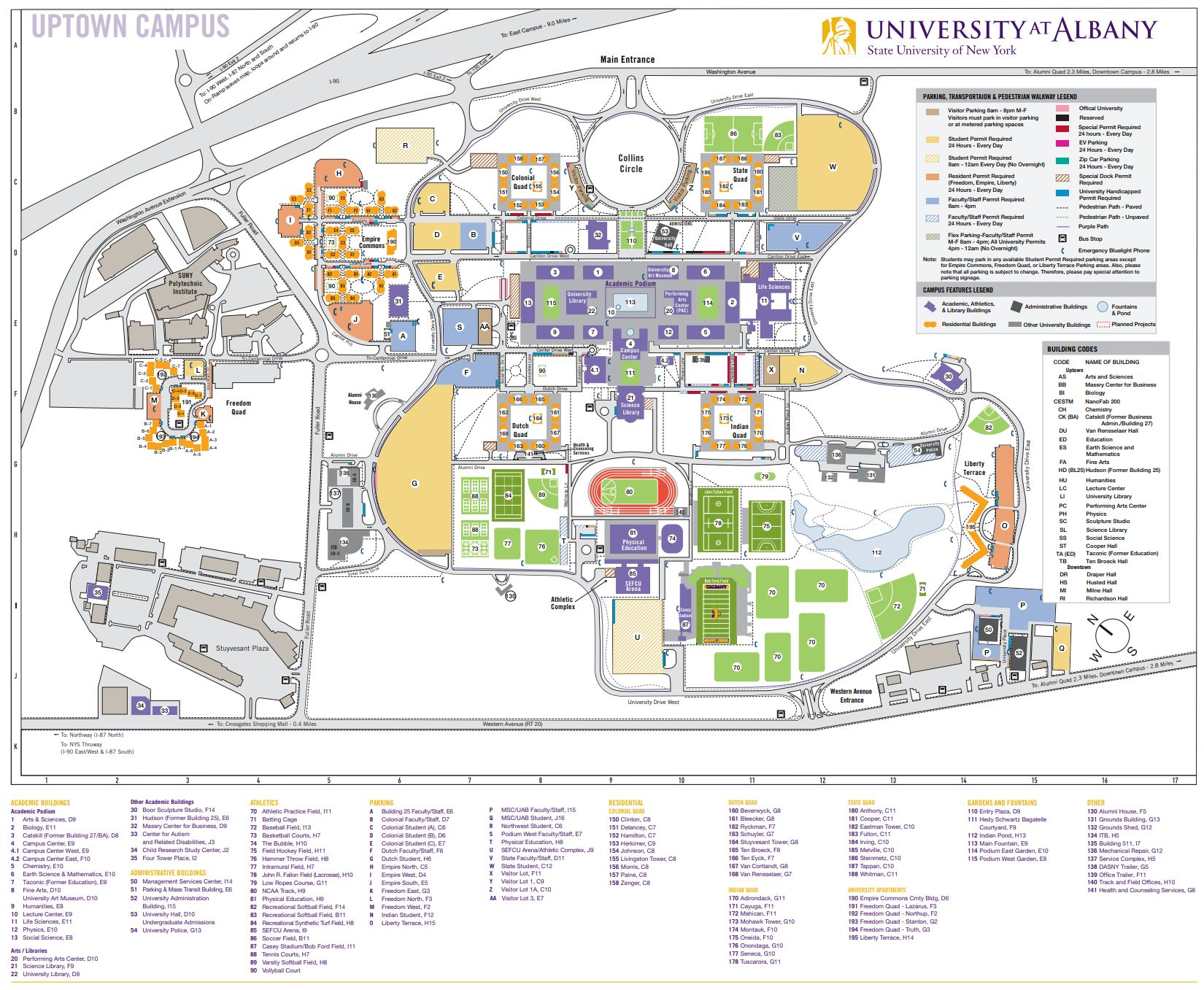 suny old westbury campus map Campus Maps And Directions University At Albany suny old westbury campus map