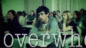 Screenshot from video: a classroom full of college students