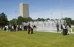 The new Entry Plaza at the University at Albany.